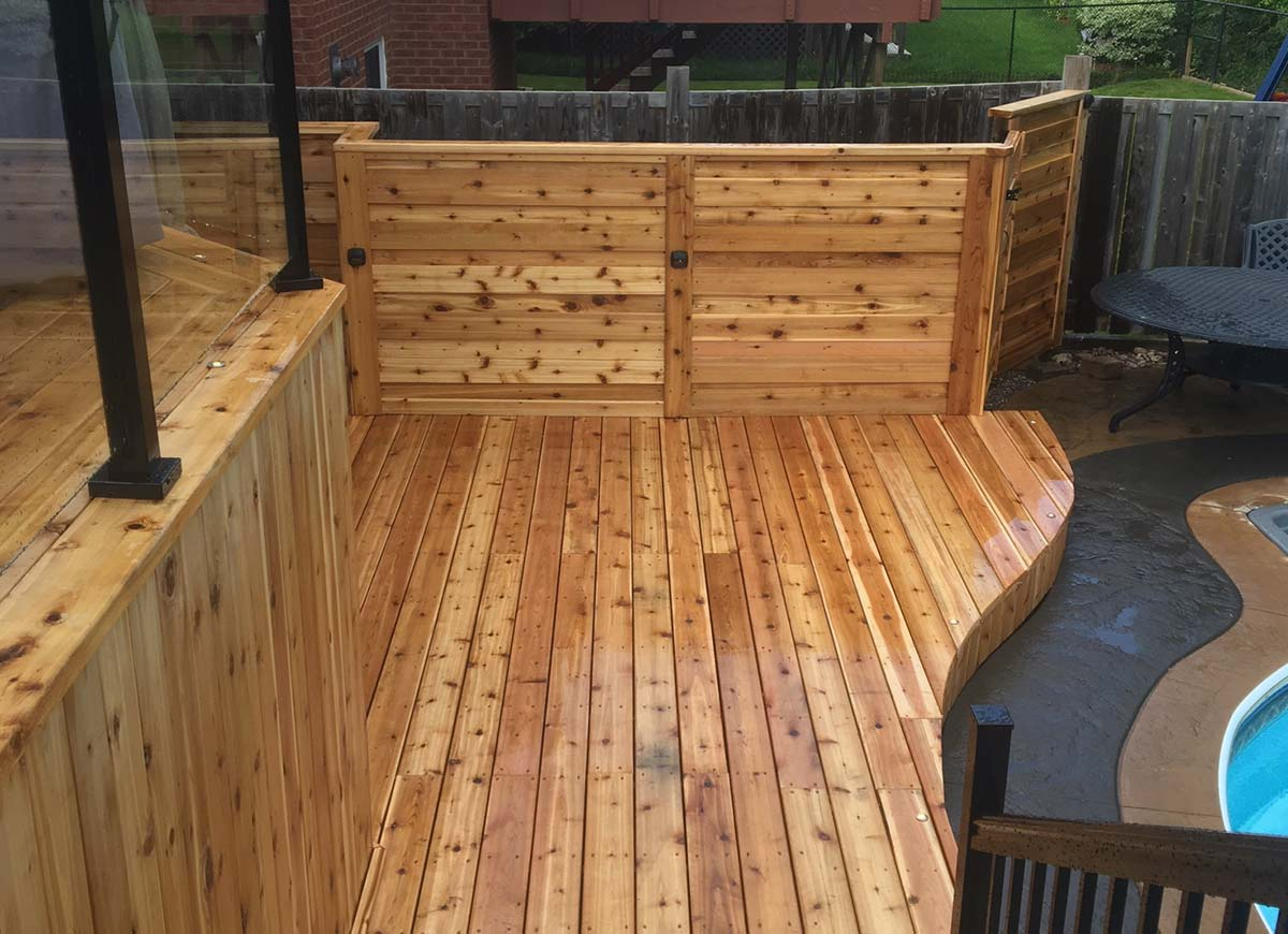 Cedar Deck and Natural Stone Garden